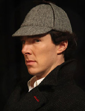 Sherlock in his hat